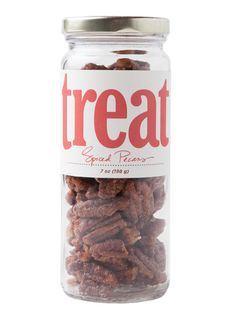 TREAT BAKE SHOP SPICED PECANS Larry's Brown Deer Market, Grasch Foods, Glorioso's. 7 ounces, $14.95