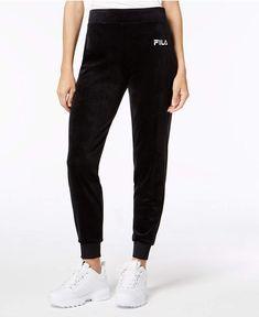 d57392cf Fila Velour Joggers Fila Velour, Black Joggers, Sweatpants Outfit, Pants  For Women,