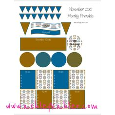 november color scheme planner stickers free printable for ECLP