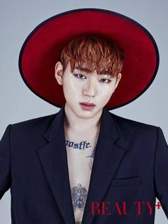 Zico shows off his tattoos in solo pictorial for 'Beauty+' | allkpop.com