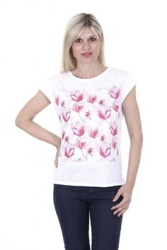 Armani Jeans ladies T-shirt C5H29 LL 10. Details: C5H29 LL 10 - Color: Multi/Color - Composition: 100% COTTON - Made: CHINA- Round Neck - Back Logo - Short Sleeve