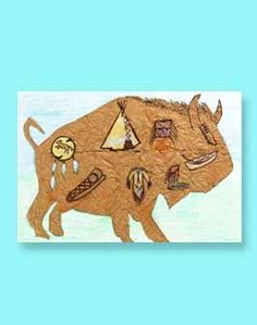 We are definitely going to have to do this some time soon Gibbons! Fun activity for a unit on Native Americans. Learn about how Native Americans used buffalo and then depict those uses on a buffalo cutout. Great one to display in the hallway or library! Native American Lessons, Native American Projects, Native American History, Native American Indians, American Symbols, Pilgrims And Indians, Art Du Monde, Thinking Day, Nativity Crafts