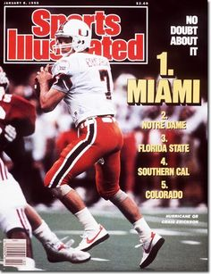 Miami Hurricanes 1989 National Champions - Sports Illustrated Cover