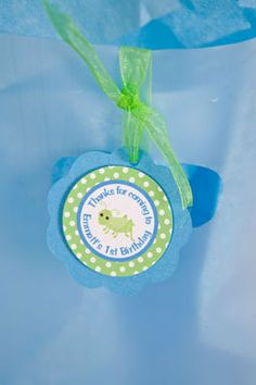 Bug and Insect Theme Favor Tags, Going Buggy Birthday Party Decorations in Blue and Green (12)
