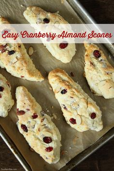 This easy recipe for Cranberry almond Scones will have a delicious and ...
