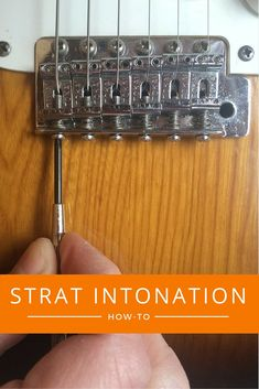 How to set intonation on a Fender Stratocaster. Part of a series of posts on getting intonation right on common guitars.