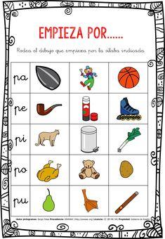 CONCIENCIA FONOLÓGICA EMPIEZA POR…... PA-PE-PI-PO-PU EDITABLE -Orientacion Andujar Daily Five, Oral Motor, Toddler Learning Activities, School Subjects, Teaching Spanish, Preschool Worksheets, Homeschool, Teacher, How To Plan