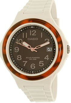 Casio Womens LXS700H5BVCF Solar Watch With White Resin Band *** Read more  at the image link.