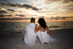 beach sunset wedding pictures - Bing Images