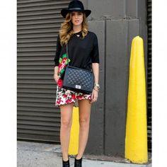 Le chapeau noir, look de la Fashion Week printemps été 2014 de New York