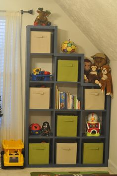 Tiered Storage Unit - Ana White - use by attic door or in dead space next to bed