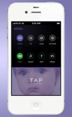 iPhone App Design: Opened Menu / Yura Yarokhovich