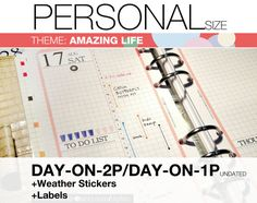 PERSONAL Inserts- Amazing Life Theme - Refills 9-IN-1 set Filofax Collins  Ask a Question $12.00