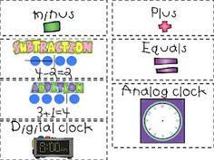 Common Core Vocabulary (1st grade) from First Grade Fanatic
