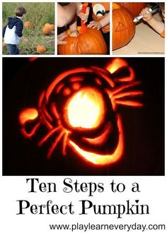 Our top ten tips and hacks to create the perfect pumpkin, from picking to carving to putting it on display! Fun Halloween Games, Halloween Decorations For Kids, Easy Halloween Crafts, Easy Crafts For Kids, Halloween Party Decor, Toddler Crafts, Halloween Kids, Outdoor Activities For Toddlers, Toddler Learning Activities