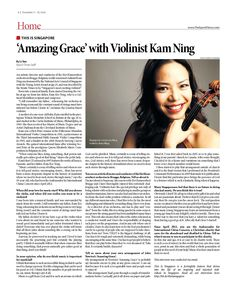 Amazing Grace' with Violinist Kam Ning --- (Epoch Times, Singapore Edition: Issue 500, Dec 5 – 18, 2014)