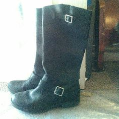 *FINAL PRICE* Black Leather boots Black boots, rarely worn. Shoes Combat & Moto Boots