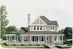 Country Style House Plans - 2213 Square Foot Home , 2 Story, 4 Bedroom and 2 Bath, 2 Garage Stalls by Monster House Plans - Plan 58-176.... OMG there a laundry chute from upstairs!!! I would have killed for one of those growing up....