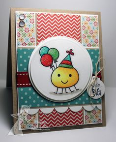 Party Monsters birthday card by Jodi Collins #Birthday