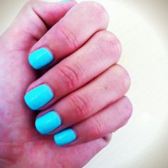 Sea-foam green nail polish