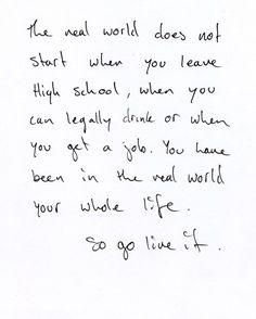 Exactly. LIVE!