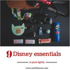 9 Disney Essentials to Pack Lightly, Disney packing, Disneyland, Disney world, Photography Tips, Photography Tutorials, Photo Tips, Photography Business Tips