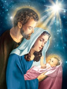 Church Pictures, Jesus Pictures, Jesus Mary And Joseph, Jesus Loves Us, Jesus Painting, Family Painting, Christian Images, Jesus Birthday, Mama Mary