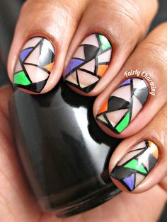 This is the last Halloween nail art I'll be doing this year (woohoo! Last Halloween, Halloween Doll, Halloween Nail Art, Happy Halloween, Sexy Nail Art, Sexy Nails, Fun Nails, Geometric Nail, Nail Artist