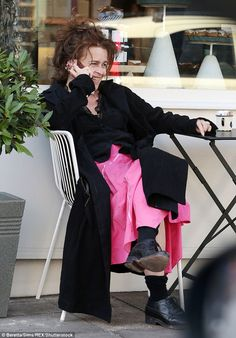 Helena Bonham Carter showed off her kooky sense of style with envy-inducing confidence when she enjoyed a relaxed afternoon out in north London on Thursday