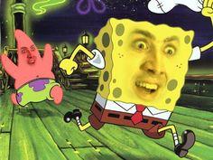 Nicolas Cage as SpongeBob Nicholas Cage Face, Foto Fails, Funny Face Swap, Face Swaps, Kids Choice Award, Choice Awards, Nickelodeon, Wow Art, Spongebob Squarepants