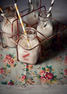 Old milk bottles