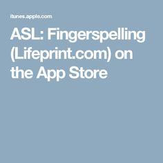 ASL: Fingerspelling (Lifeprint.com) on the App Store