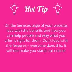 Write about the benefits of your services. #writerstips #contentmarketing #wowwords #girlboss #Australia #Brisbane