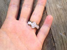 Mandala ring macrame boho jewelry by por creationsmariposa en Etsy