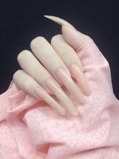 Long Natural Nails, Long Nails, Cute Nails