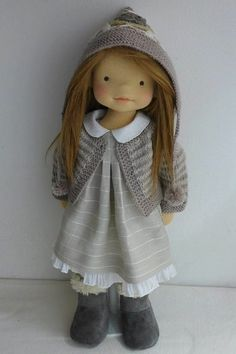 Rag dolls -- Click Visit link above to see Doll Crafts, Cute Crafts, Waldorf Toys, Sewing Dolls, Soft Dolls, Girl Dolls, Rag Dolls, Fabric Dolls, Doll Face