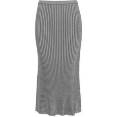 Victoria Beckham Rib-Knitted Skirt ($785) ❤ liked on Polyvore featuring skirts, saia, black, victoria beckham, victoria beckham skirt and ribbed knit skirt
