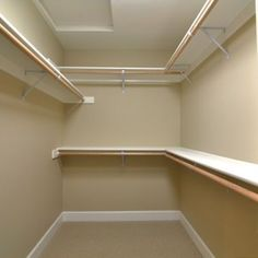 "closet ideas for small walk in closets | Small Walk-in Closet Design 5'-6"" x 10' 