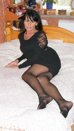 Russian Mom Mature Pantyhose Mature Black 66
