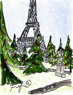 Eiffel Christmas Trees by Fifi Flowers