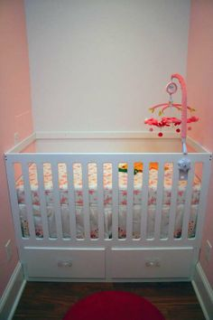 built in crib (make with removable rails