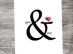 You & Me + Heart! A little sweet and sassy...a little sarcastic and snarky! Not your ordinary cards..but isn't that what you were looking for? We encourage you to explore our entire collection of unique handmade cards by Lena B Designs on Etsy!