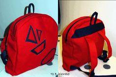 #Zaino rosso e blu per la #scuola  - 123 ricreo