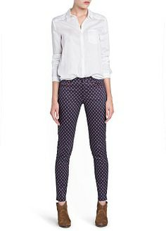 MANGO - CLOTHING - Trousers - Slim-fit foulard print trousers