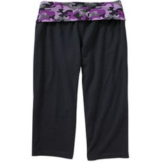 7f80cc7c74568 Danskin Now - Danskin Now - Women's Plus-Size Foldover Waist Fashion Yoga Capri  Pants - Walmart.com