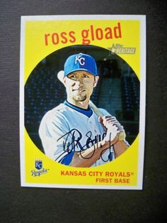 2008 Topps Heritage #695 Ross Gload SP Short Print Royals NM/MT