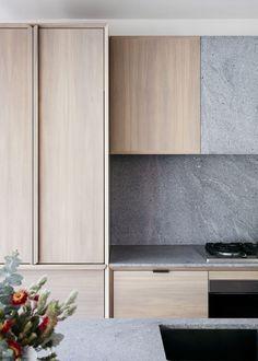 Loftus Lane. Chamfered edge details to the kitchen.