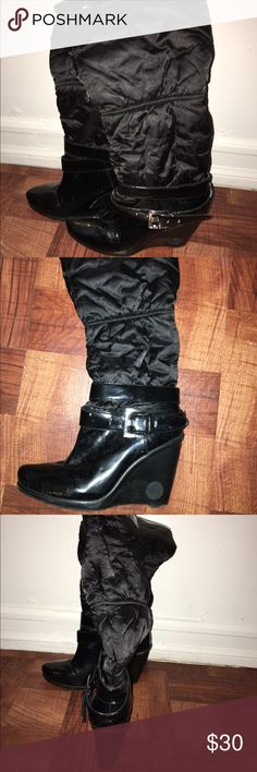 BCBG winter rain boots ! Super cute for the trendy all weather girl BCBGMaxAzria Shoes Winter & Rain Boots