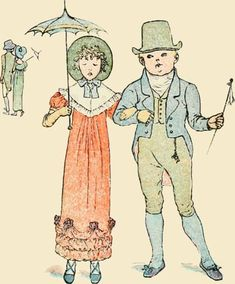 As Tommy Snooks, and Bessie Brooks - Mother Goose or The Old Nursery Rhymes, 1881