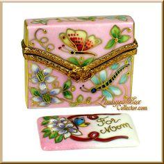 Floral Envelope & Greeting Card FOR MOM Limoges Box (Beauchamp)